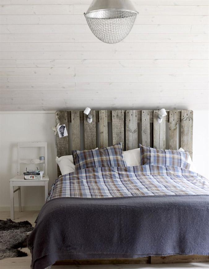 Cabeceros bonitos hechos con palets minibu for Cabeceros de cama estilo nordico