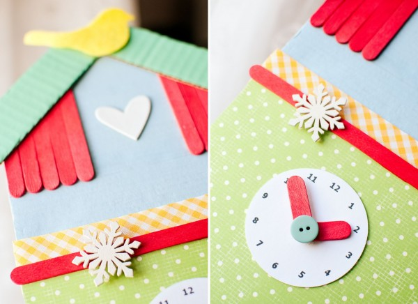 Fieltro minibu - Manualidades relojes infantiles ...