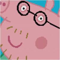 Peppa Pig a punto de cruz