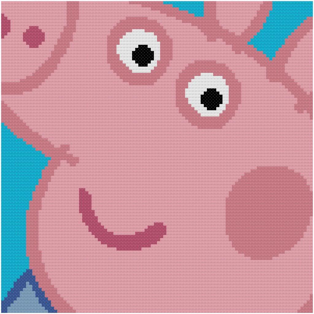 Esquemas Punto De Cruz Peppa Pig Minibu | apexwallpapers.com