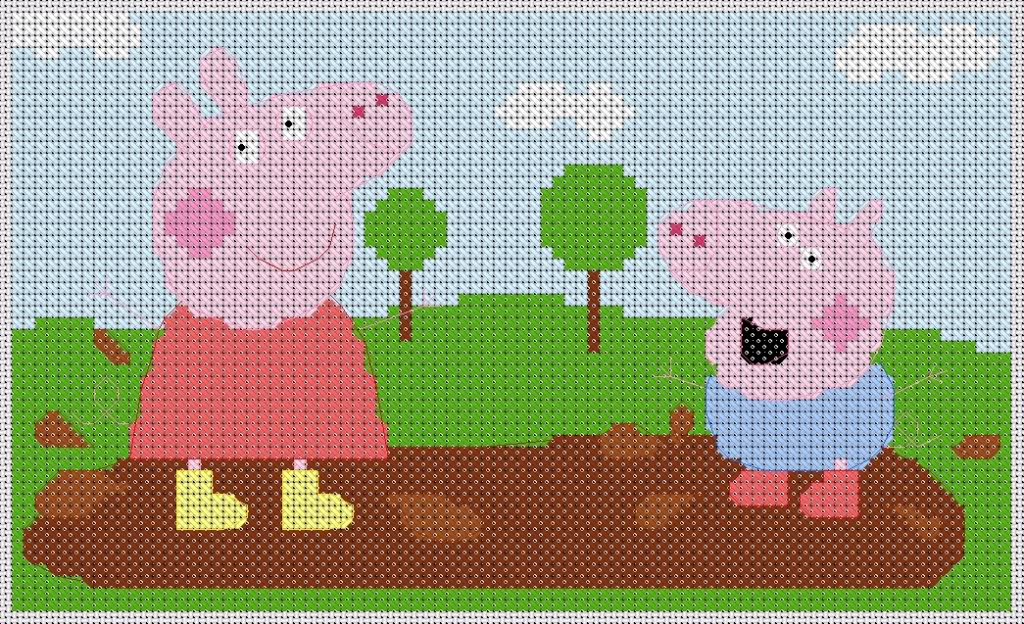 series esquemas punto de cruz Peppa Pig Peppa Pig Peppa Pig punto de