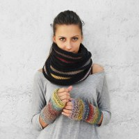 Tejer con agujas circulares (Continental Knitting)