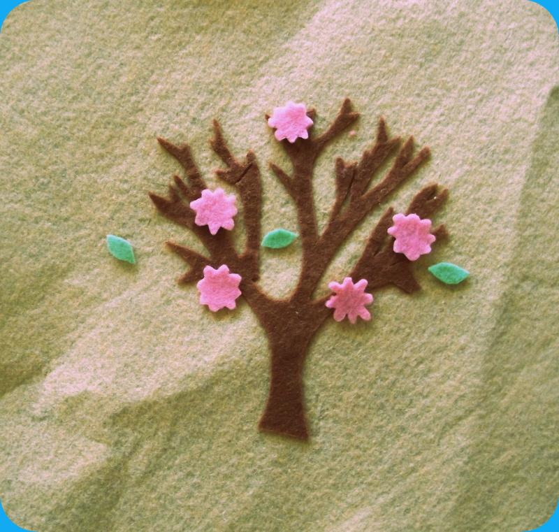 manualidades con fieltro ? minibu - Juegos De Bano De Fieltro Para Primavera