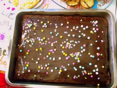 Pastel de chocolate y ganache