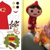 DIY Marioneta de Caperucita Roja en fieltro