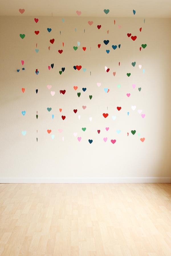 decorado de corazones