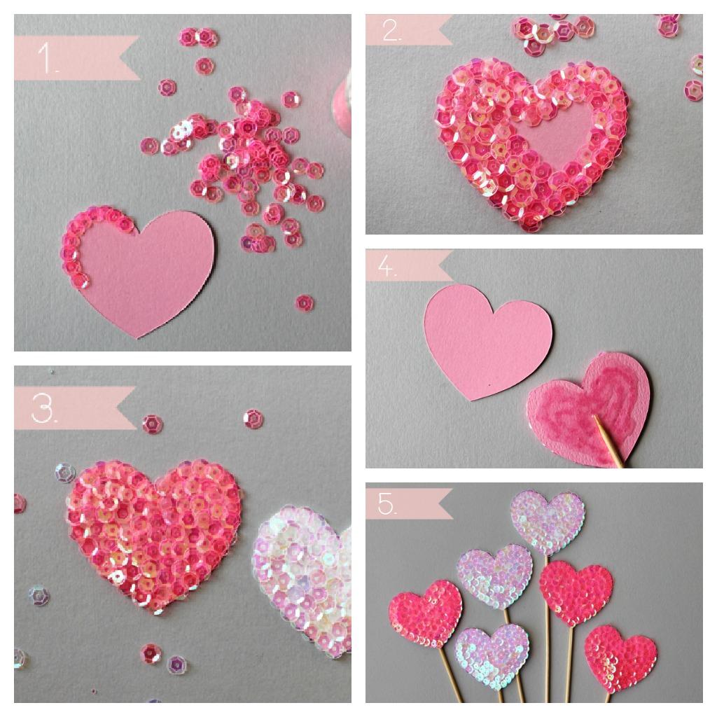 Как сделать панно из вырезанных сердечек